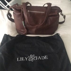 Lily Jade Madeline Diaper Bag in Brandy